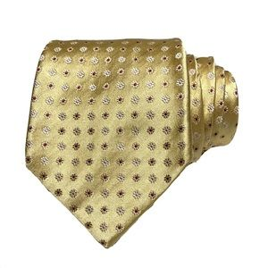 Kiton Geometric Floral Jacquard Woven Silk Tie